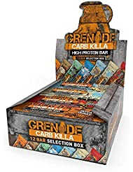 Grenade Carb Killa Selection Box High Protein and Low Carb Bar, 12 x 60g
