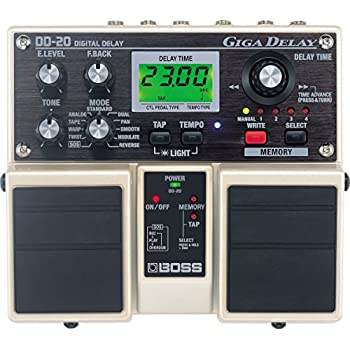 boss dd20 giga delay electric guitar effects reverb delay musical instruments. Black Bedroom Furniture Sets. Home Design Ideas