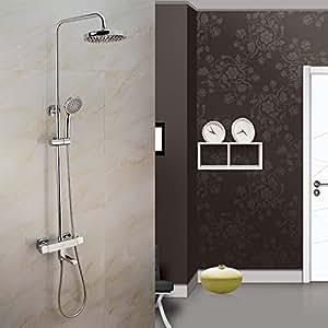 GQ Alle Kupferthermostatische Dusche stellte , kompletter Satz in die Wand verborgen Duscharmatur Badezimmer