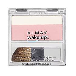 Wake Up Blush and Highlighter, Pink Rose, 0.16 Ounce