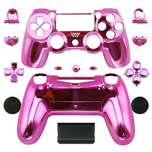 WPS Chrom Controller Full Gehäuse + Full-für PS4Playstation 4Dualshock 4(Gen. 1Controller Nur) Rosa Chromfarben/Pink - Gehäuse Playstation 4