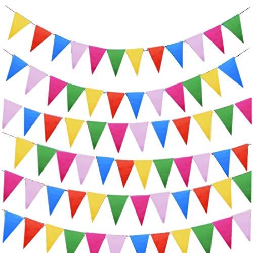 JZK 80 metros bunting partido colores triángulo banner bandera cuerda colgando decoración...