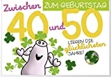 Humor 40-50 Geburtstag Karte Grußkarte Extra Konfetti Glücklich 16x11cm