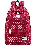 Lona-mochila-de-viaje-Escuela-Bolsa-De-Hombro-Dot-impresin-Teenage-nia-de-bolsas-para-14-15-PC-porttil-A4-Revista-iPad-34aire