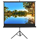 Yaheetech Adjustable Projection Screen with Stand For School Theatre Cinema Home, Tripod Projector