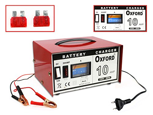 Vetrineinrete® Caricabatterie 6v 12v per batterie auto e moto 10 ampere caricatore batteria avviatore emergenza P38