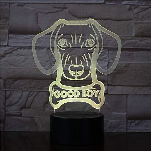 Benutzerdefinierte Hundenamen glühende Lampe Wurst Wurst Wurst Hund Form Moderne Leuchte Tischlampe Wiener Hund Tier Haustier Welpe guter Junge