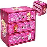 alles-meine.de GmbH 2 Stück _ Schmuckkästen - mit je 3 Schubladen - Disney die Eiskönigin - Frozen - Mädchen - z.B. für Schmuck - Schmuckbox Schmuckkästchen / Schmuckdose - Box /..