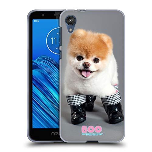 Head Case Designs Ufficiale Boo-The World's Cutest Dog Stivali Primi Piani Cover in Morbido Gel Compatibile con Motorola Moto E6