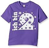 Coole-Fun-T-Shirts Mädchen T-Shirt Ich Bin 2 Jahre!, Gr. One Size (Herstellergröße: 116cm/2 Jahre), Violett (Lila-Weiss)