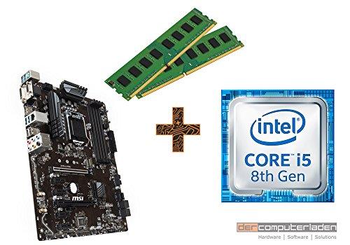 PC Aufrüstkit Intel, i5-8600K 6x3.6 GHz, 16GB DDR4, Intel UHD Grafik 630-1GB, Mainboard Bundle, Tuning Kit, fertig montiert, Spiele Office zusammengestellt in Deutschland Desktop Rechner