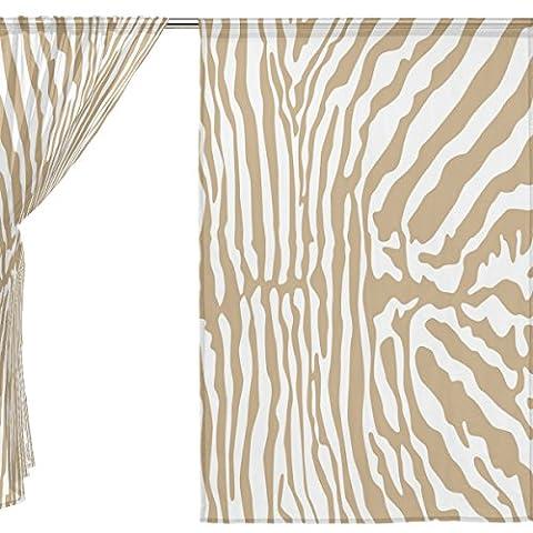 jstel Lot de 2voile rideau fenêtre, Leopard Grain Vintage, en tulle Transparent Rideau Drapé Lit 139,7x 198,1cm deux panneaux de, Polyester, bleu, 55x84x2(in)