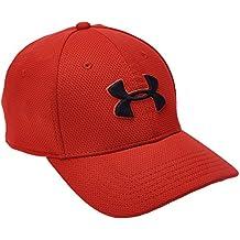 Under Armour Sportswear - Cap Blitzing II - Gorra de golf para hombre, color rojo, talla M/L