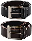#6: Zacharias Men's Combo of 2 Belts Black & Brown