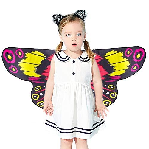 Kostüm verträumt verkleiden Sich Schmetterlingsflügel für Jungen Mädchen Halloween verkleiden Sich Prinzessin Pretend Play Party Halloween ()