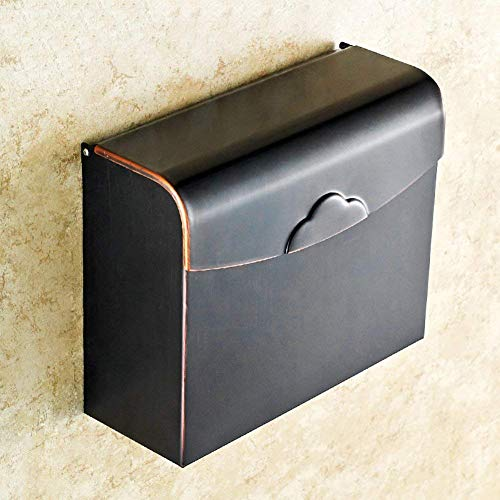 Paperhold Badezimmer-Papierhandtuchhalter mit Regal-Toiletten-Behälter-Messing-Toiletten-Wasserdichten hygienischen Behälter - Hygienische Regale