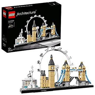 LEGO Architecture – Londres, Set de Construcción del Skyline con Big Ben, London Eye, el Puente de la Torre, Regalo Coleccionable con Detalles (21034)