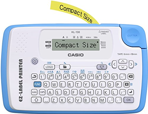 ean code drucker CASIO EZ-Label Printer KL-130 Beschriftungsgerät für Schriftbänder 6 / 9 / 12 / 18 mm