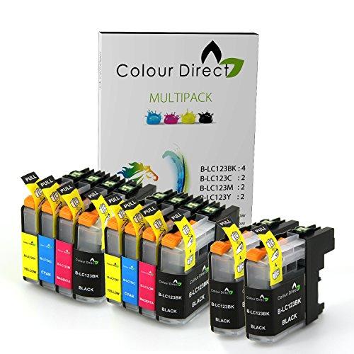 10 XL Colour Direct LC123 / LC121 Cartuchos de Tinta Con Chip Para Brother DCP-J132W DCP-J152W DCP-J552DW MFC-J650DW DCP-J752DW DCP-J4110DW MFC-J870DW MFC-J4410DW MFC-J4510DW MFC-J4610DW MFC-J4710DW MFC-J470DW Impresoras