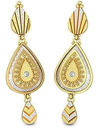 Candere By Kalyan Jewellers 18KT Yellow Gold Drop Earrings For Women