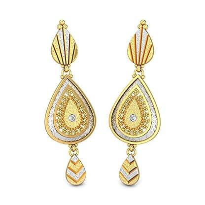 Candere By Kalyan Jewellers 22k (916) Yellow Gold Ballari Drop Earrings