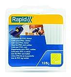 Rapid, 40107358, Bâtons de colle thermofusible, Pour PVC et câbles, Transparent, ø12mm, Longueur 94mm, 125g