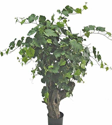 artplants – Künstlicher Rebstock, 350 Blätter, 5 Reben, Fieberglas – Stamm, 130 cm – Kunstpflanzen Ranke/Deko Wein Reben Pflanzen
