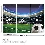 FORWALL DekoShop Vlies Fototapete Tapete Vliestapete Fußball auf Stadion AD1915VEXXL (312cm x 219cm) Photo Wallpaper Mural