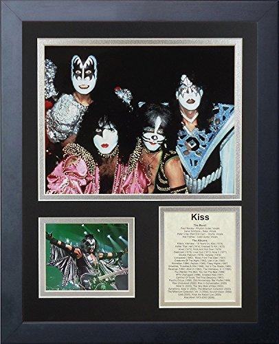 Legenden Sterben Nie Kiss II gerahmtes Foto Collage, 11x 35,6cm -
