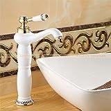Maifeini Heißes Bad Verkaufen Wasserhahn Armatur Chrom, Messing Verchromt Waschbecken Badezimmer Faucet Single Handle Faucet, Weiß