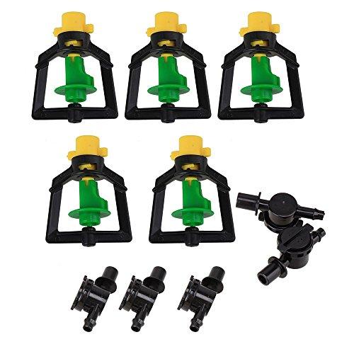 5 pièces en plastique rotatif Micro embout Arroseur pour serre Humidificateur d'irrigation