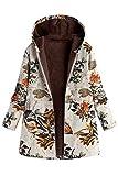 Manteau Ethnique Grande Taille Femme Boheme Hippie Chic Blouson Chaud Hiver Fille Gilet Manche Longue Veste Polaire avec Capuche et Poche Cardigan Epais Blazer Ouvert Trench Coat Oversize Streetwear