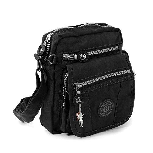 Handtasche / Schultertasche / Umhängetasche klein schwarz (Kleine Stoff-taschen)