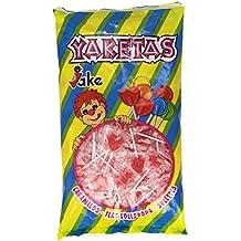 Jake - Yaketas - Caramelo plano con palo - 200 unidades