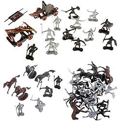 Sharplace 2 Set de Mini Tamaño Soldados Militar Medieval Juguetes de Modelo para Dioramas