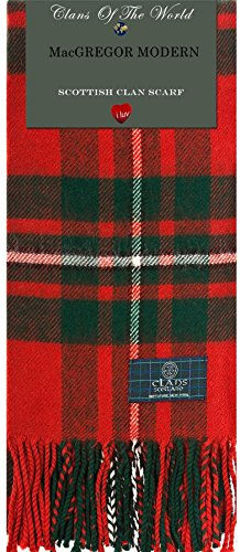 Hombre I Luv LTD Buchanan Modern Tartan Clan Scarf 100% Soft Lambswool