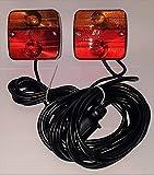 Beleuchtungsset Anhänger Rückleuchten Magnetisch Heckleuchtenset mit Kabel