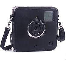 [Polaroid Socialmatic Instant Digital Funda] - CAIUL Protector Cámara Funda con Cuero Sintético PU (Negro)