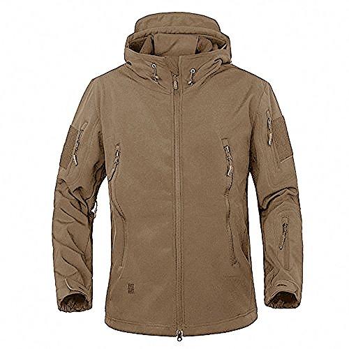 Tacvasen giacca militare softshell da uomo outdoor impermeabile cappotto