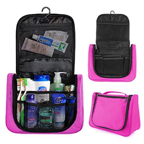 Beauty Case da Viaggio,Hipsteen Multifunzioni Viaggiante Appesa Cosmetica Borsa Sanitaria Borsa Toilette Borsa Viaggio Organizzatore - Rosy
