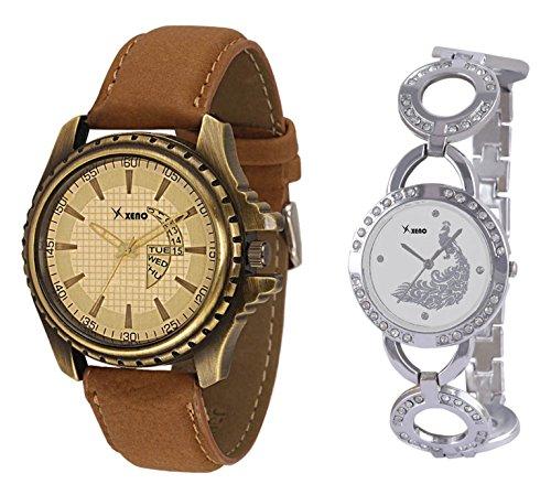 Xeno ZD000304-291 Mix N Match Analog Watch For Couple