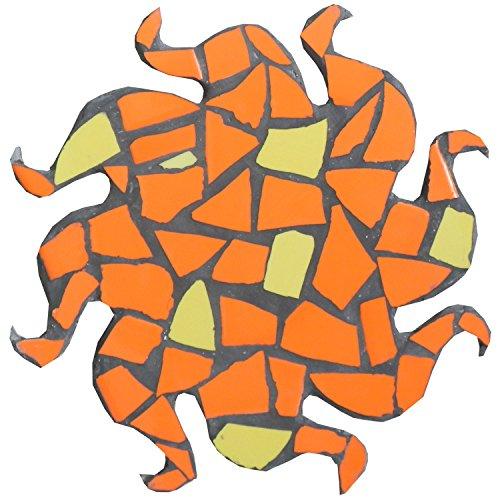 ALEA Mosaic Kit de mosaïque, Dessous de Plat ~26cm, Soleil, Bits Jaune Orange