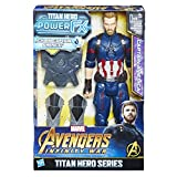 Hasbro Avengers E0607100 - Marvel Titan Hero Power FX Captain America Actionfigur, dt. Version