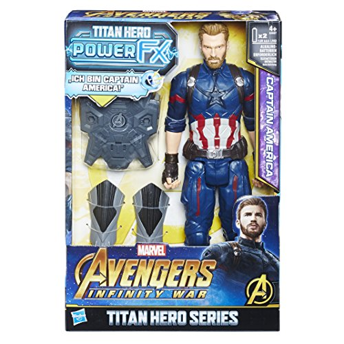 7100 - Marvel Titan Hero Power FX Captain America Actionfigur, dt. Version (Iron Man-power)