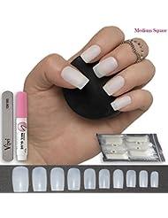600pièces carré ongles 10tailles–Faux Ongles Courts Medium Coque intégrale Naturel Acrylique opaque Faux ongles pour les salons de vernis à ongles et de colle DIY Nail Art–* gratuit *