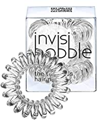 Invisibobble Lot de 3 élastiques à cheveux Crystal Clear Transparent