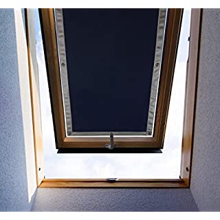 Purovi Thermo Sonnenschutz für Dachfenster | Verschiedene Größen | UV Schutz | kompatibel mit Velux and Roto Fenstern, Sonnenschutz, Hitzereduktion (VELUX kompatibel, S06 und 606 – 96 x 93cm)