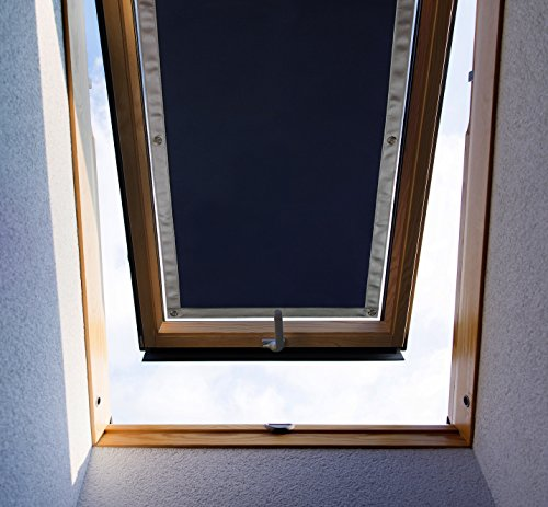 Purovi® Thermo Sonnenschutz für Dachfenster | Hitzeschutz für Innen | ohne Bohren ohne kleben | große Auswahl für Velux + Roto Fenster | Ausgewählte Größe: Velux S08 und 608 – 96 x 115cm