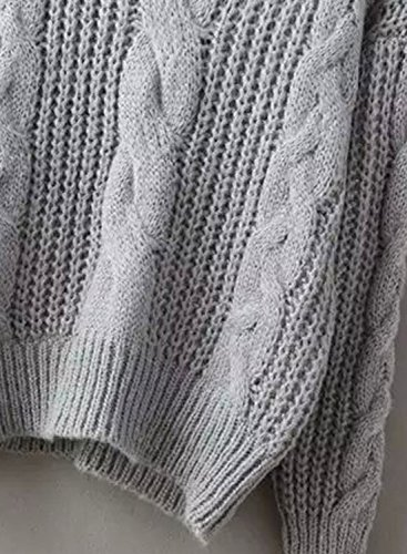 Futurino - Pull - Manches Longues - Femme Taille Unique Gris
