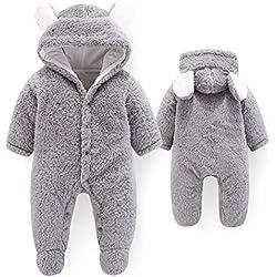 HBOY Vêtements pour bébé, Combinaison, bébé, barboteuse-grey-80cm